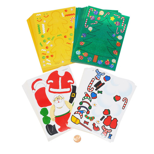Christmas Sticker Activity Sheets Wholesale