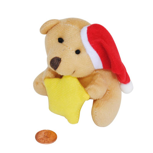Mini Stuffed Bear with Star
