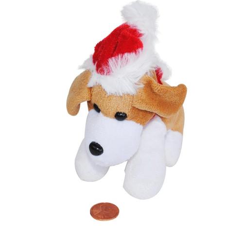 Mini Stuffed Christmas Dog