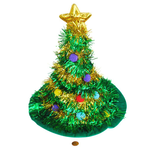 Christmas Tree Decorated Hat - Adult Sized