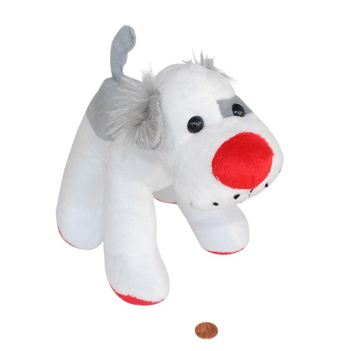 Red Nose Stuffed Animal Dog