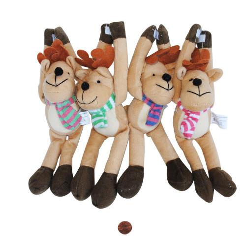 Long Arm Plush Reindeer - Holiday Stuffed Animal Wholesale