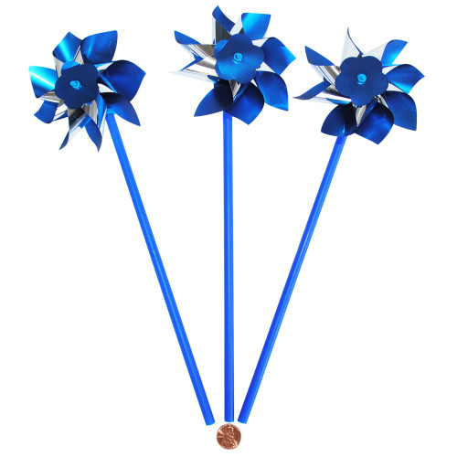 Blue and Silver Pinwheels