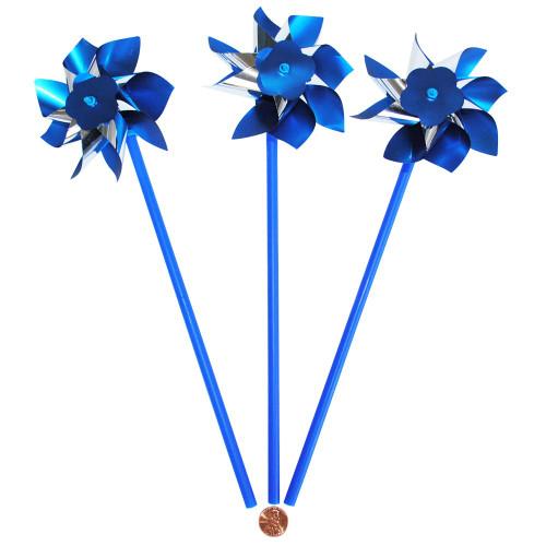 Blue and Silver Pinwheels