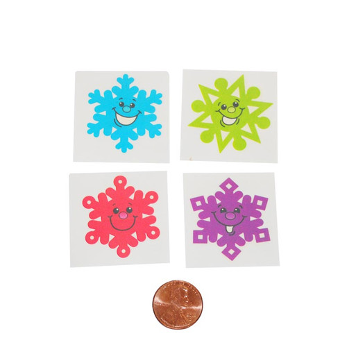 Cheerful Snowflake Temporary Tattoos