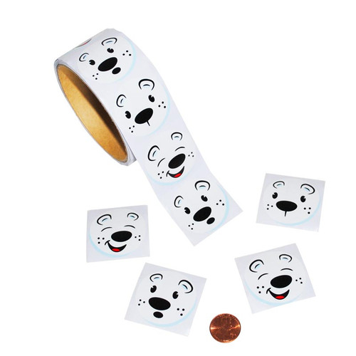Polar Bear Face Sticker Roll