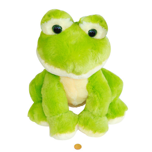 Large Fluffy Stuffed Animal Frog