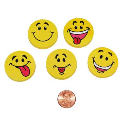 Smile Face Erasers