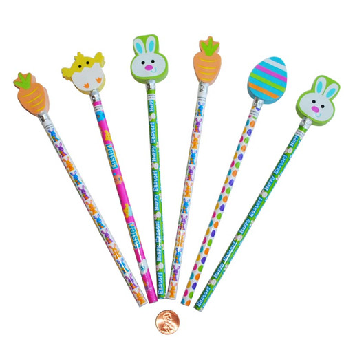 Easter Pencils with Easter Erasers