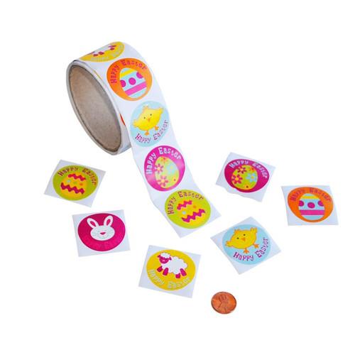 Happy Easter Sticker Roll
