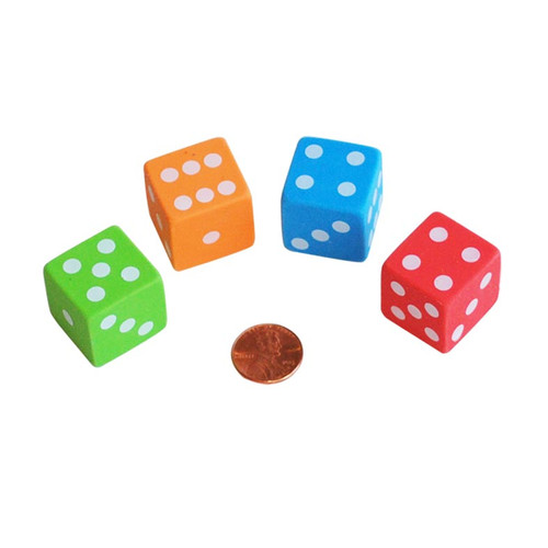 Dice Shaped Erasers - Novelty Item