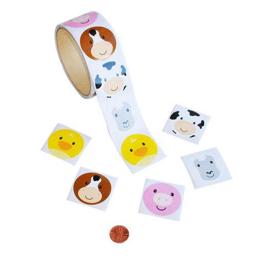 Farm Animal Sticker Roll