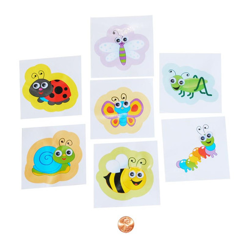 Spring Bug Stickers with Wiggle Eyes
