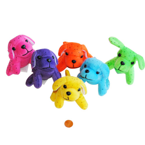 Mini Neon Stuffed Puppies