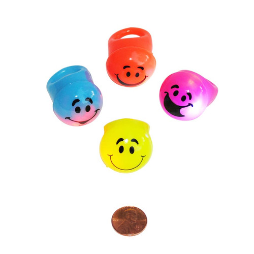 Flashing Smile Face Rings
