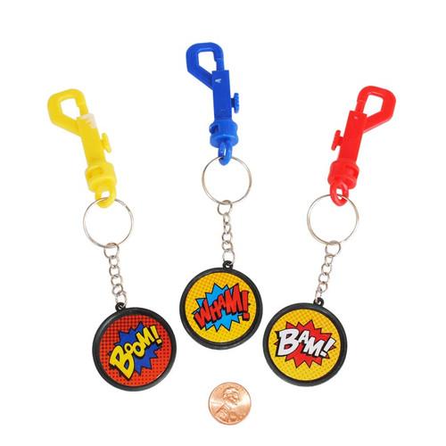 Superhero Backpack Clip Key Chains