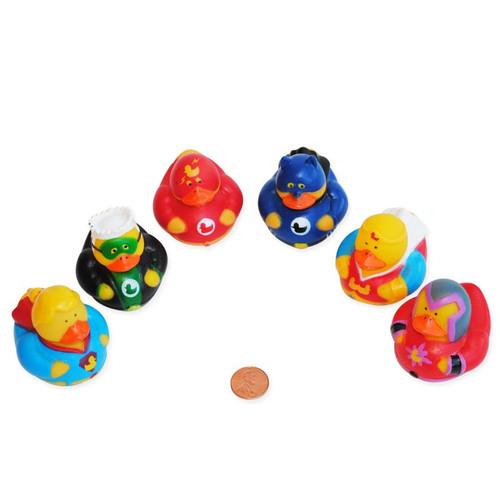 Super Hero Mini Rubber Ducks