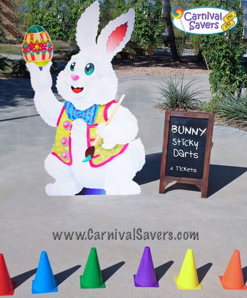 FREE Bunny Sticky Darts Carnival Game