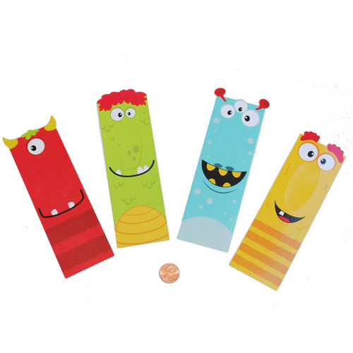 Silly Monster Bookmarks - Cardboard Laminated Wholesale