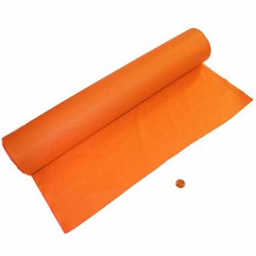 Orange Plastic Tablecloth Roll - 100 Feet Long