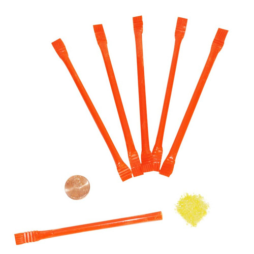 Orange Candy Filled Straws