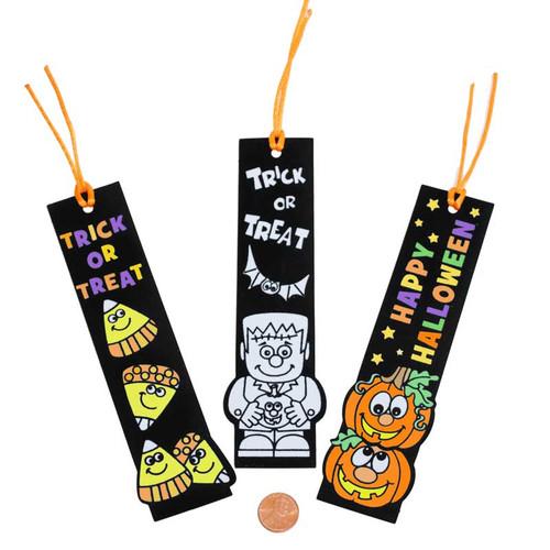 Fuzzy Halloween Bookmarks