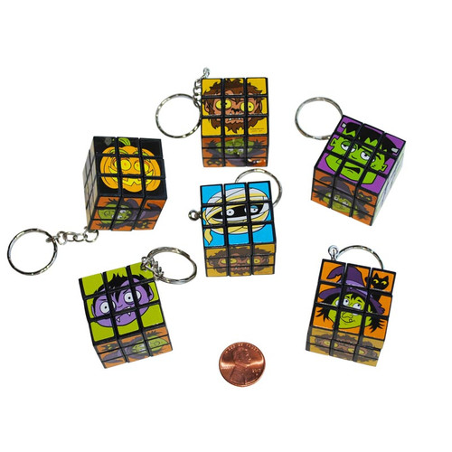 Halloween Mini Cube Game Key Chains