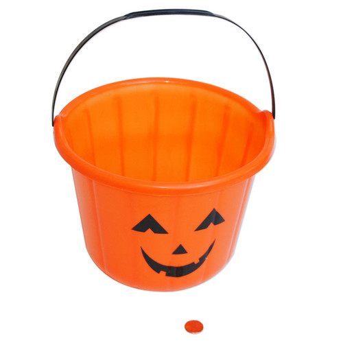 Jack O Lantern Plastic Pails - Wholesale  - New