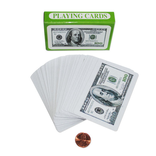 $100 Bill Playing Cards