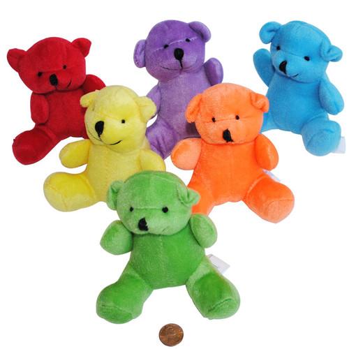 Mini Stuffed Bright Bears Wholesale