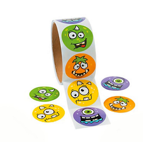 Monster Face Sticker Roll