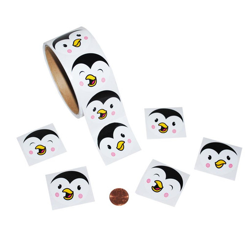 Penguin Face Sticker Roll
