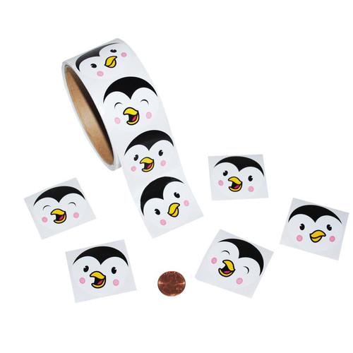 Penguin Face Sticker Roll