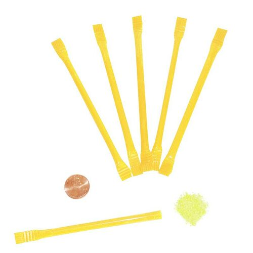 Yellow Candy Filled Straws - Wholesale