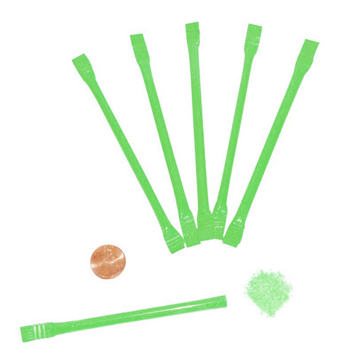 Green Candy Filled Straws Wholesale