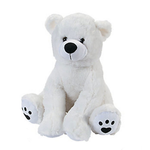 Plush White Polar Bear Stuffed Animal Toy