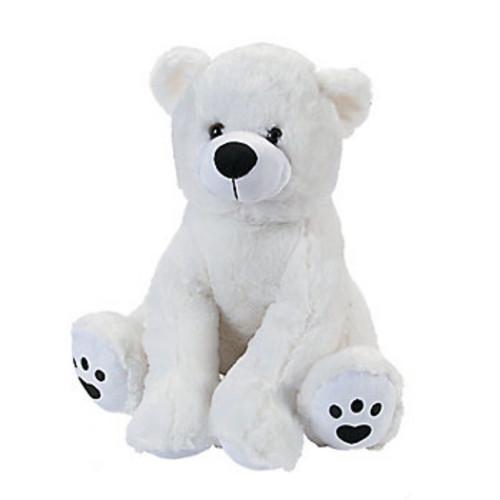 Plush White Polar Bear Stuffed Animal Toy