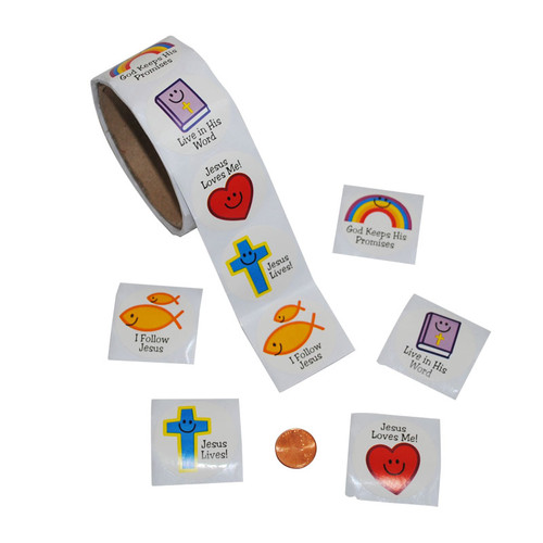 Christian Smile Face Sticker Roll