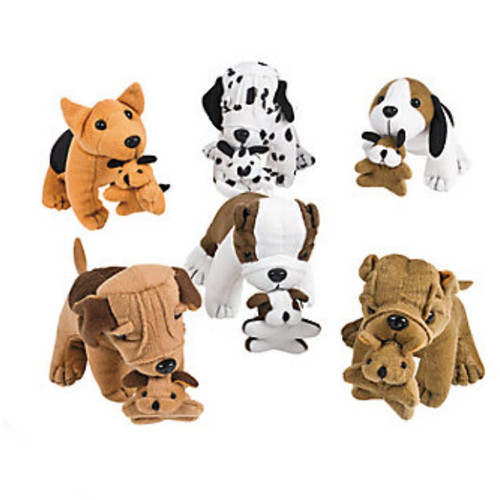 Plush Dogs with Puppies wholesale stuffed animal