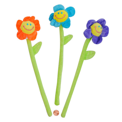 Plush Bendable Smiley Face Flowers Kids Prize