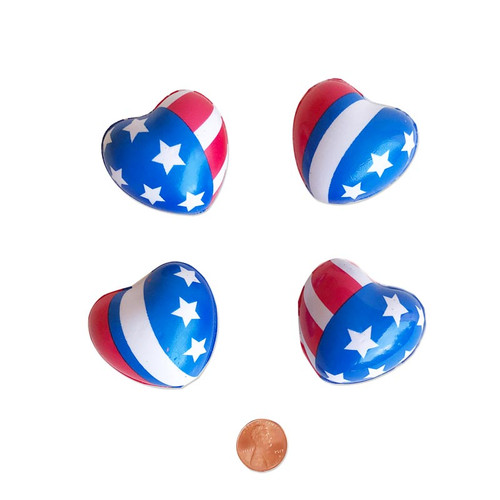 Patriotic Heart Stress Toys