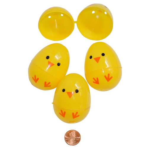 Chick Themed Plastic Easter Eggs - wholesale