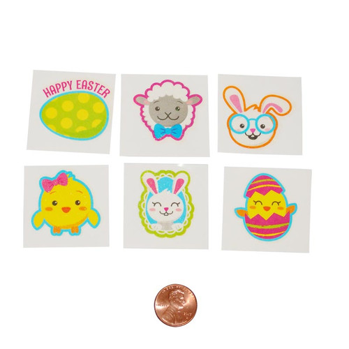 Easter Glitter Temporary Tattoos - wholesale