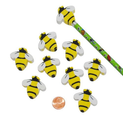 Bee Eraser Pencil Toppers