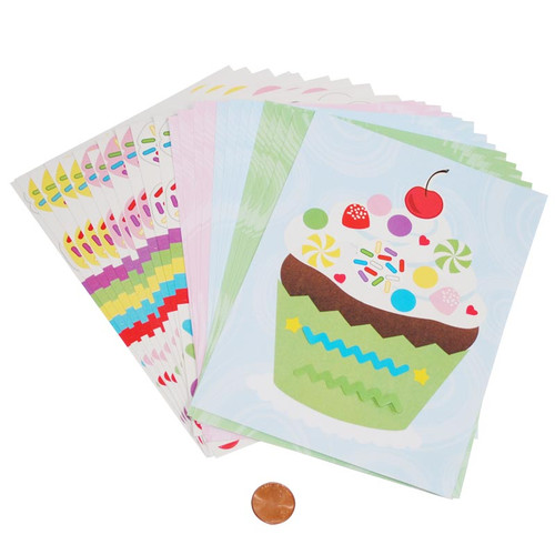 Make-a-Cupcake Sticker Sets Wholesale