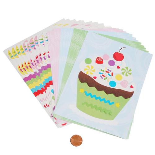 Make-a-Cupcake Sticker Sets Wholesale