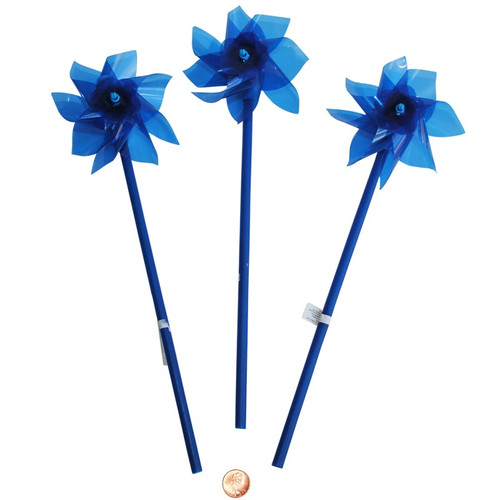 Blue Plastic Pinwheels