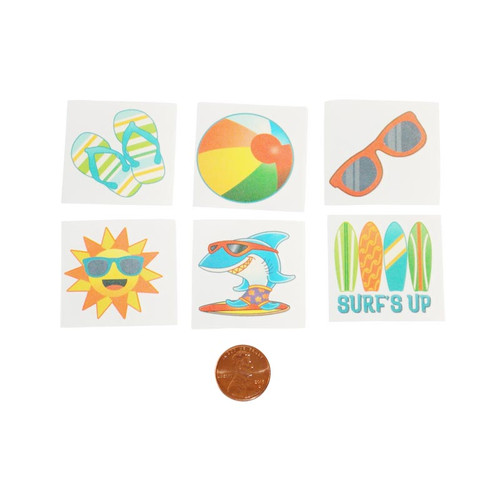 Beach Time Kids Temporary Tattoos