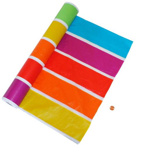 Rainbow Plastic Table Cloth Roll
