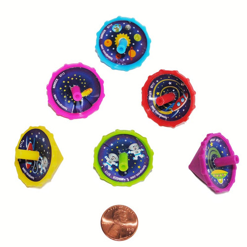 Space Themed Spin Tops Wholesale Small Toy